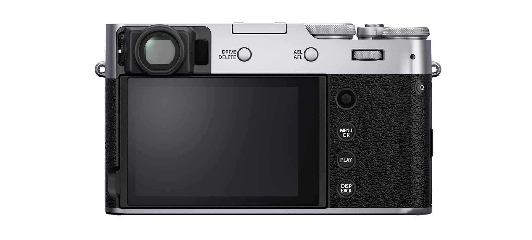 Fujifilm X100V back silver