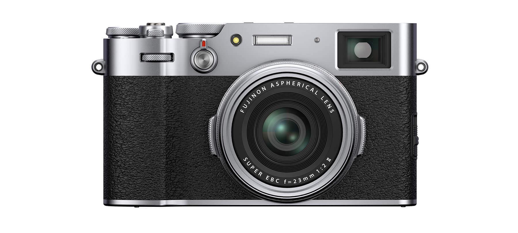 Fujifilm X100V front silver