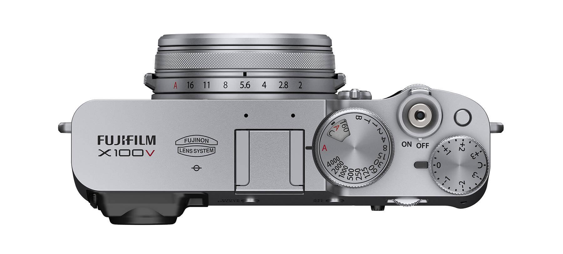 Fujifilm X100V top silver