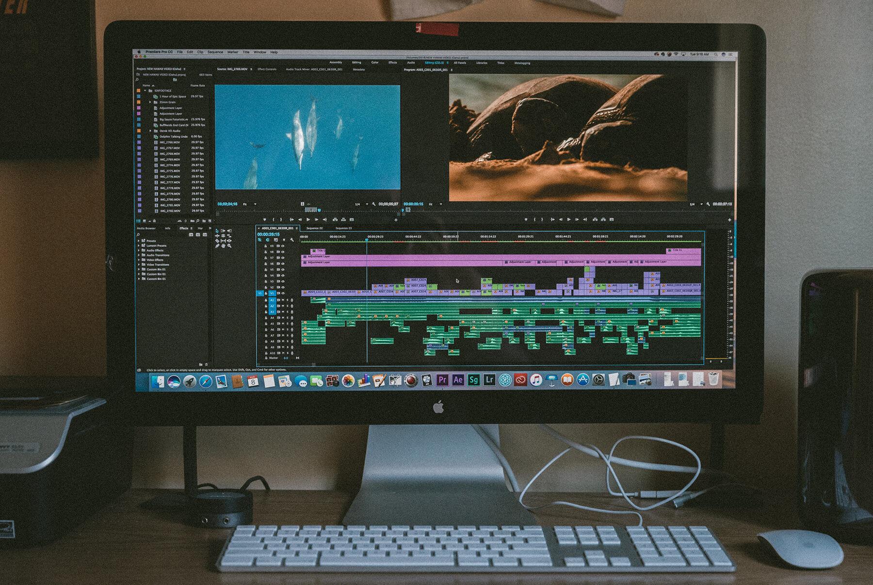 Video editing timeline
