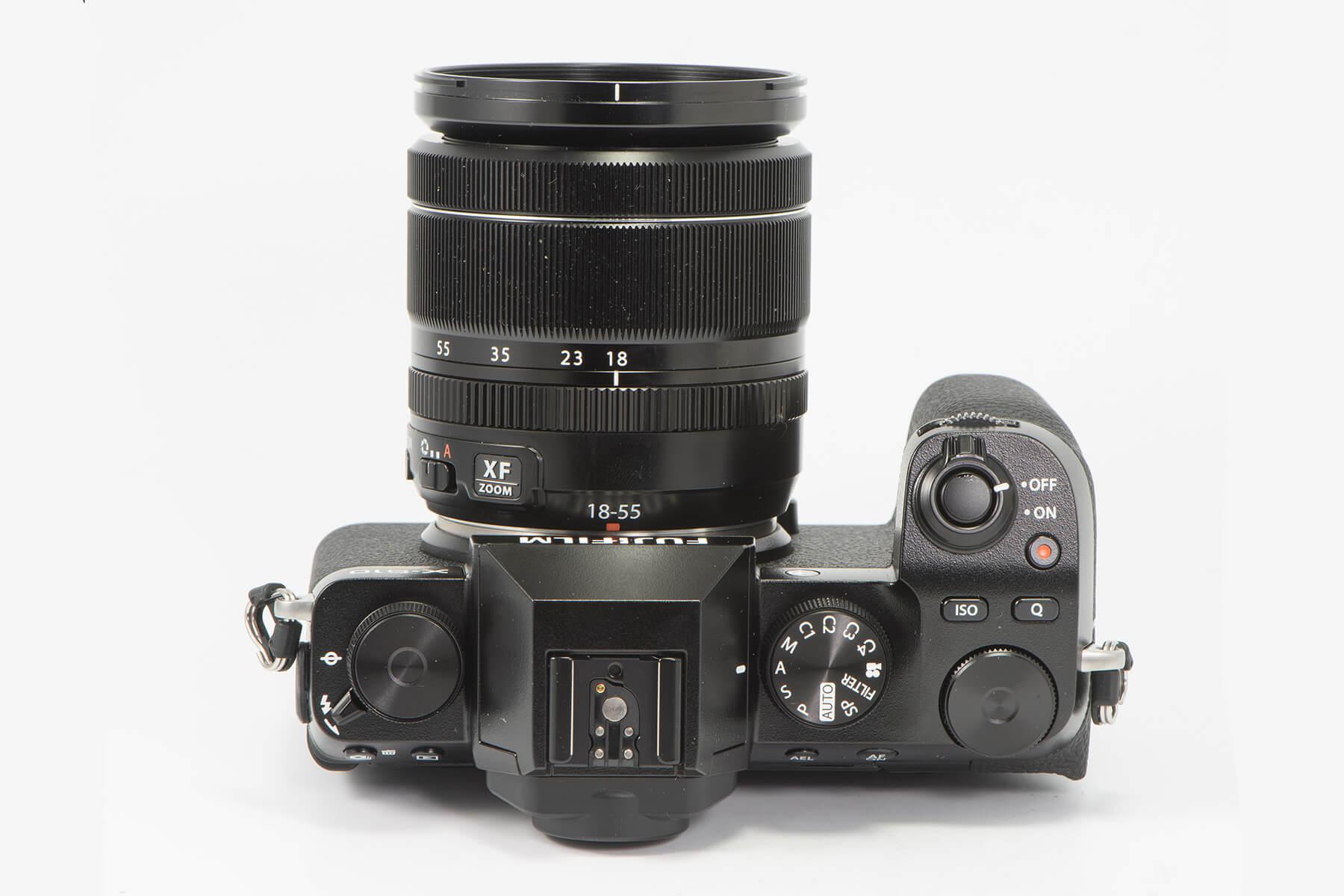 Fujifilm X-S10 top